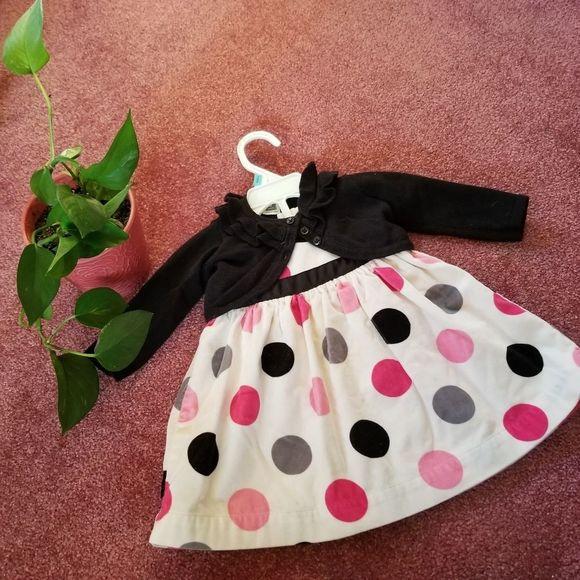 Carter's 3-piece Formal Polka Dot Dress 6 Months